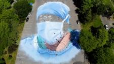 COVID mural