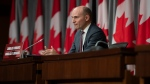President of the Treasury Board Jean-Yves Duclos speaks during a news conference on the COVID-19 pandemic in Ottawa, on Wednesday, May 27, 2020. THE CANADIAN PRESS/Justin Tang