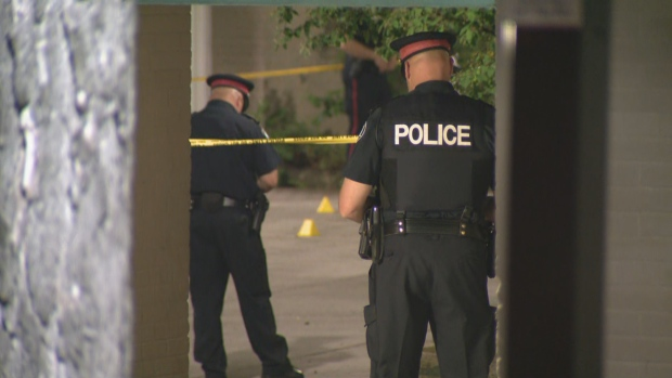 Toronto police are investigating a shooting in North York that sent a 22-year-old man to hospital with serious injuries.