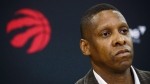 Toronto Raptors president Masai Ujiri speaks in Toronto, Friday, July 20, 2018. Ujiri says conversations about racism can no longer be avoided in the aftermath of the death of George Floyd in Minneapolis, and the protests around the United States that have followed.THE CANADIAN PRESS/Mark Blinch