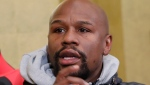 In this Dec. 29, 2018, file photo, Floyd Mayweather Jr. speaks during a news conference in Tokyo. (AP Photo/Eugene Hoshiko, File)