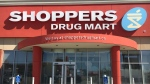 The exterior of a Shoppers Drug Mart location is seen.