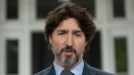 Prime Minister Justin Trudeau responds to a question on racism during a news conference outside Rideau Cottage in Ottawa, Tuesday June 2, 2020. THE CANADIAN PRESS/Adrian Wyld
