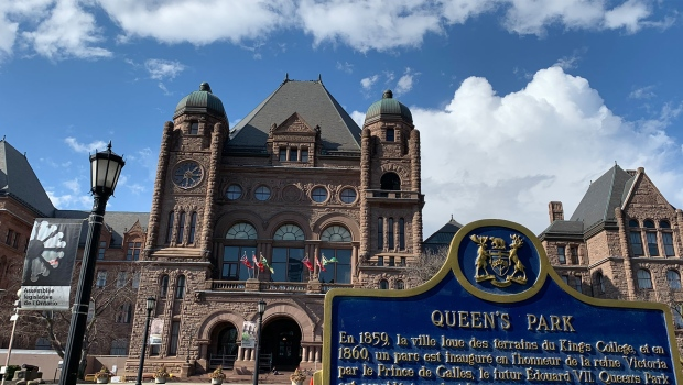 Queen's Park is pictured in downtown Toronto in this file photo. (Joshua Freeman /CP24)