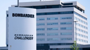 A Bombardier plant is seen in Montreal on Friday, June 5, 2020. The federal Liberal government is buying two new Challenger jets from Bombardier to replace half the military's existing executive aircraft fleet. THE CANADIAN PRESS/Paul Chiasson