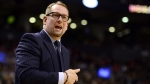Toronto Raptors head coach Nick Nurse directs play from courtside during first half NBA basketball action against the Brooklyn Nets, in Toronto, Saturday, Feb. 8, 2020. THE CANADIAN PRESS/Frank Gunn