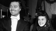 """In this March 17, 1939 file photo, Clark Gable and Vivien Leigh appear dressed in character for their first day on the film, """"Gone With the Wind"""" in Los Angeles. (AP Photo)"""