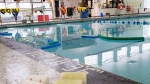 Pool noodles float in a swimming pool in Toronto on Friday, August 10, 2012. THE CANADIAN PRESS/Michelle Siu
