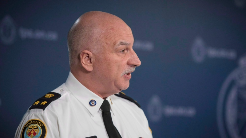 Deputy chief James Ramer speaks about the alleged assaults and sexual assaults involving students at St. Michael's College School during a press conference at police headquarters in Toronto on Monday, November 19, 2018. THE CANADIAN PRESS/ Tijana Martin