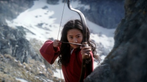 "This image released by Disney shows Yifei Liu in the title role of ""Mulan."" Disney said Friday, June 26, 2020 that it would delay the release of the live-action adaptation until Aug, 21, 2020, after having already delayed its release from March until July because of the coronavirus pandemic. (Disney Enterprises, Inc. via AP)"