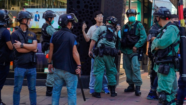 Hong Kong holds silent protest against new Chinese security law