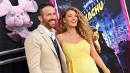 "Actor Ryan Reynolds, left, is joined by his wife, actress Blake Lively at the premiere of ""Pokemon Detective Pikachu"" at Military Island in Times Square on Thursday, May 2, 2019, in New York.  THE CANADIAN PRESS/AP-Photo by Evan Agostini/Invision/AP"