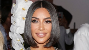 This Sept. 10, 2019, file photo shows Kim Kardashian arriving to the Serena Williams fashion show during Fashion Week in New York. (AP Photo/Seth Wenig, File)