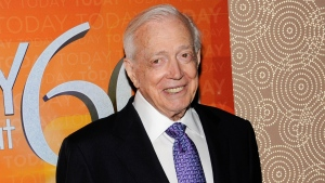 "This Jan. 12, 2012 file photo shows Hugh Downs at the ""Today"" show 60th anniversary celebration in New York. (AP Photo/Evan Agostini, File)"