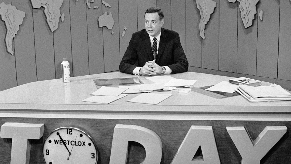 "In this March 10, 1966 file photo, Hugh Downs hosts the ""Today""show on NBC. (AP Photo/Jack Kanthal, File)"