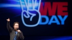 Craig Kielburger, founder of the charity Free the Children, speaks at the charity's We Day celebrations in Kitchener, Ontario, Thursday, February 17, 2011. THE CANADIAN PRESS/Geoff Robins