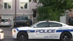 A police cruiser is shown outside a Brampton home following a standoff overnight.