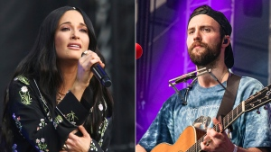 "Kacey Musgraves performs during the first weekend of the Austin City Limits Music Festival in Zilker Park on Oct. 6, 2019, in Austin, Texas, left, and Ruston Kelly performs at the Bonnaroo Music and Arts Festival on June 15, 2019, in Manchester, Tenn. Musgraves and Kelly have filed for divorce. In a joint statement, Musgraves and Kelly said ""we've made this painful decision together."" (Photo by Amy Harris/Invision/AP)"