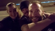 This photo released by the Aurora Police Department, in Colorado, shows Officers Erica Marrero, from left, Jaron Jones and Kyle Dittrich. Jason Rosenblatt, one of three white officers who stopped Elijah McClain, has been fired over the photos showing colleagues reenacting the chokehold used before the Black man died in August 2019, according to documents from prosecutors. The officers shown in the photo have either been fired or have resigned, according to officials. (Aurora Police Department via AP)
