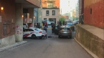 Police are investigating a shooting downtown that left a man in his 20s with life-threatening injuries. (Cristina Tenaglia/CP24)