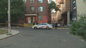 A man was taken to a hospital with life-threatening injuries after a shooting in downtown Toronto.