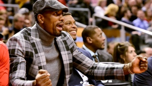 """Whether it was his playful """"How Bored Are You?"""" social media posts, his online talent show, or his workout videos, Raptors forward Serge Ibaka was one of Toronto's most visible athletes in the early days of the COVID-19 lockdown. THE CANADIAN PRESS/Frank Gunn"""