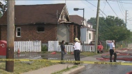 Three people have been taken to hospital following a house fire in Oshawa.