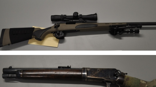 Peel Regional Police seized firearms after executing search warrants in Toronto and Collingwood. (Peel Regional Police handout)
