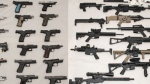 Firearms were seized following a traffic stop in Mississauga (Peel Regional Police handout)