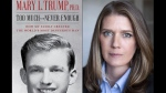 This combination photo shows the cover art for 'Too Much and Never Enough: How My Family Created the World's Most Dangerous Man,' left, and a portrait of author Mary L. Trump, Ph.D. (Simon & Schuster, left, and Peter Serling/Simon & Schuster via AP)