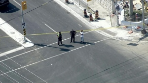 Two women were injured following a pedestrian-involved collision in Mississauga.