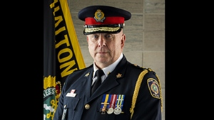 Halton Regional Police Chief Steve Tanner is shown in a 2019 image from the HRPS website.