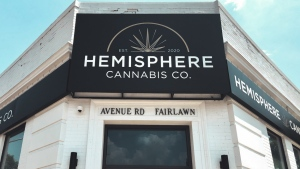 Hemisphere Cannabis Co. is pictured at 1703 Avenue Road. (Handout/ Aegis Brands)