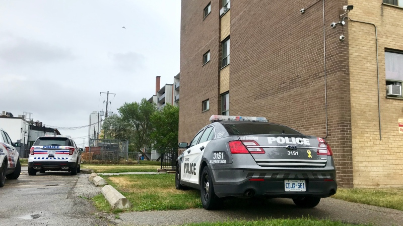 Police are investigating after two children were stabbed inside a North York apartment on Saturday morning. (Francis Gibbs/ CTV News Toronto)