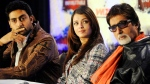 "Aishwarya Rai Bachchan, centre, husband Abhishek Bachchan, left, and Amitabh Bachchan look on during a press conference for ""The Unforgettable Tour"" in Toronto, Thursday, July 17, 2008.THE CANADIAN PRESS/Aaron Harris"
