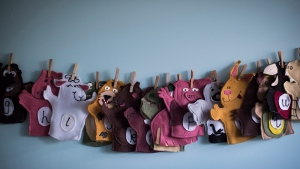 "Animal puppets are seen at a CEFA (Core Education and Fine Arts) Early Learning daycare franchise, in Langley, B.C., on May 29, 2018. Toronto-based retail distributor Sarah Pretty has had to confront myriad supply chain issues during the COVID-19 pandemic, but she calls the current school and home life situation of Canadian families an ""operational nightmare."" THE CANADIAN PRESS/Darryl Dyck"