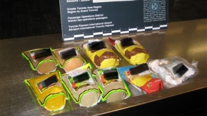 Food packages allegedly used to conceal cocaine are pictured in this image released by the RCMP. (Handout)