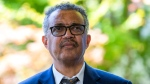 In this Thursday, June 25, 2020 file photo, Tedros Adhanom Ghebreyesus, Director General of the World Health Organization (WHO), attends a press conference, at the (WHO) headquarters in Geneva, Switzerland. (Salvatore Di Nolfi/Keystone via AP, File)