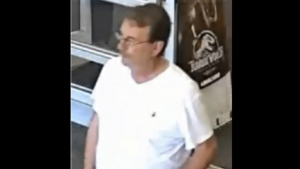 Peter Melegos, 74, is shown in an undated surveillance camera image.