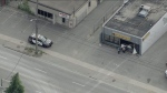 Police are investigating after an unattended cement truck crashed into a store in Etobicoke this morning.