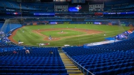 The Toronto Blue Jays played a MLB intrasquad baseball game in Toronto on Friday, July 10, 2020. THE CANADIAN PRESS/Carlos Osorio