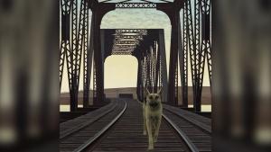 "Alex Colville ""Dog and Bridge"""