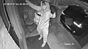 In this surveillance image released by Toronto police, thieves use a signal booster to steal a vehicle from the owner's driveway. (Handout)