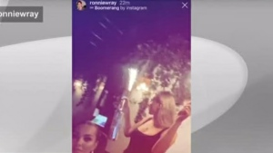 A woman is seen holding a sparkler in a screengrab image from MARBL. (CP24)