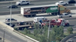 Provincial police are investigating a fatal collision on Highway 401 near Weston Road. (MTO)
