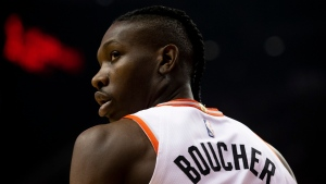 Toronto Raptors' Chris Boucher is pictured during NBA basketball action against the San Antonio Spurs, in Toronto, Sunday, Jan. 12, 2020. THE CANADIAN PRESS/Chris Young