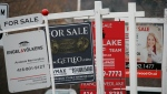 Real estate for sale signs are shown in Oakville, Ont. on December 1, 2018. THE CANADIAN PRESS/Richard Buchan