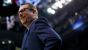 Toronto Raptors head coach Nick Nurse smiles courtside during second half NBA basketball action against the Washington Wizards, in Toronto, Friday, Jan. 17, 2020. THE CANADIAN PRESS/Cole Burston