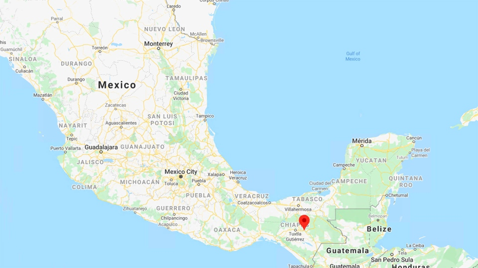 San Cristobal, Mexico is pictured on this map. (Google)