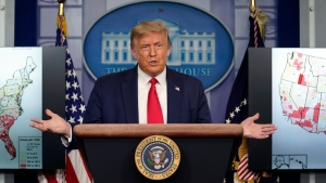 President Donald Trump speaks during a news conference at the White House, Thursday, July 23, 2020, in Washington. (AP Photo/Evan Vucci)